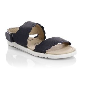 Little girls Old Soles leather sandals